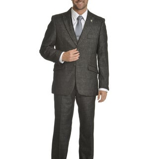 Stacy Adams Men's Micro Plaid 3-piece Suit