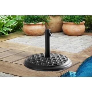 Sunjoy Black Steel 13.4 Inches x 17 Inches 35-pound Umbrella Base