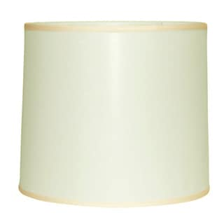 Crown Lighting Large Off-white Linen Modified Drum Lampshade 14x15x16(As Is Item)