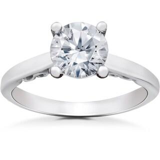 14k White Gold 1 1/2ct TDW Lab Grown Eco Friendly Diamond Gabriella Engagement Ring