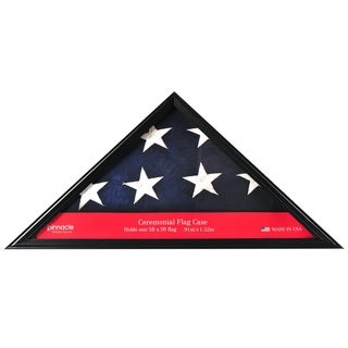 Pinnacle Black Wood Large Flag Case