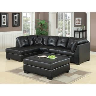 Coaster Company Darie Black Bonded Leather Sectional