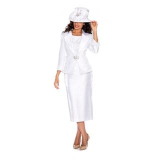 Giovanna Signature Women's Lace and Sequins 3-piece Trim Skirt Suit