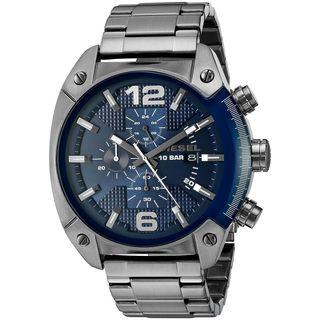 Diesel Men's DZ4412 'Overflow' Chronograph Black Stainless Steel Watch