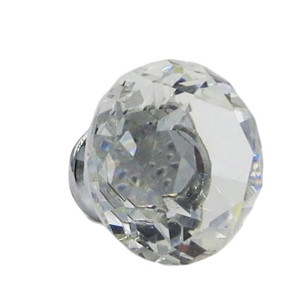 Crystal Glass Diamond Shape 1.5-inch, 40-millimeter Knob Pull (Pack of 6)