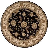 Nourison Renaissance Black Area Rug (5'9 Round) - 5'9