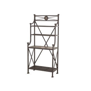 Sunjoy Martin Black Aluminum/Steel 67-inches High Bakers Rack