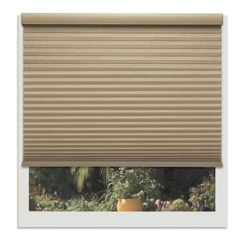 Linen Avenue Custom Cordless Tan Light-fIltering Cellular Shade