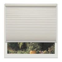 Linen Avenue Custom Cordless Off-white 52- to 53-inches Wide Seashell Light-filtering Cell