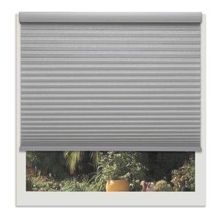 Linen Avenue Custom Cordless Grey Polyester Light-fIltering Cellular Shade