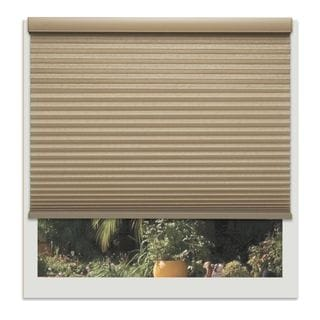 Linen Avenue Custom Cordless Harvest Tan 66- to 67-inches Wide Light-filtering Cellular Sh
