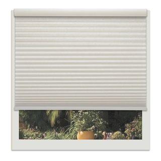 Linen Avenue Custom Cordless Off-white Light-fIltering Cellular Shade