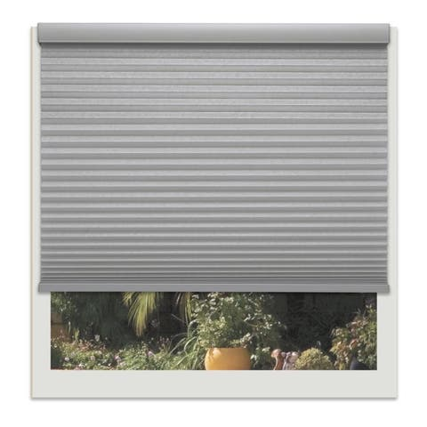 Linen Avenue Custom Cordless Grey 38- to 39-inches Wide Platinum Light-filtering Cellular