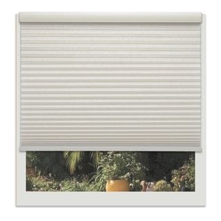 Linen Avenue Custom Cordless Off-white 60- to 61-inches Wide Seashell Light-filtering Cell