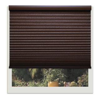Linen Avenue Custom Cordless Chocolate 22- to 23-inches Wide Light FIltering Cellular Shade