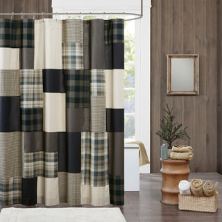 Woolrich Winter Hills Tan Cotton Shower Curtain