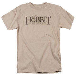 Hobbit/Textured Logo Short Sleeve Adult T-Shirt 18/1 in Sand