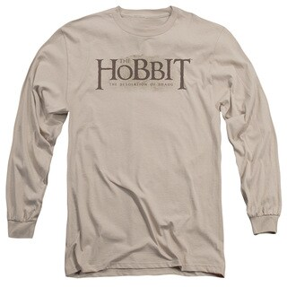 Hobbit/Textured Logo Long Sleeve Adult T-Shirt 18/1 in Sand