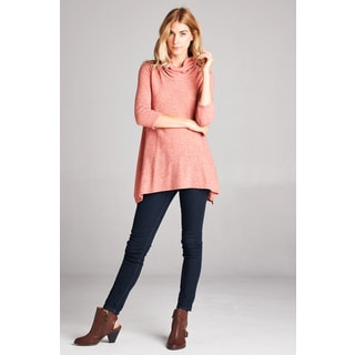 Orange Creek Cowl Neckline Piko A-Line Top