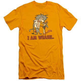 I Am Weasel/Buddies Short Sleeve Adult T-Shirt 30/1 in Gold