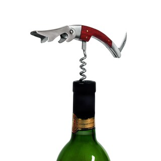 Epicureanist Waiter Style Corkscrew with Wood Handle-4 Corkscrews