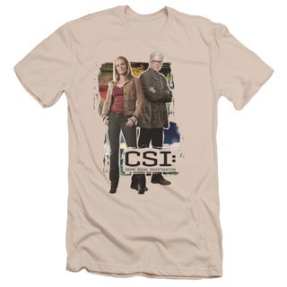 CSI/Back To Back Short Sleeve Adult T-Shirt 30/1 in Cream