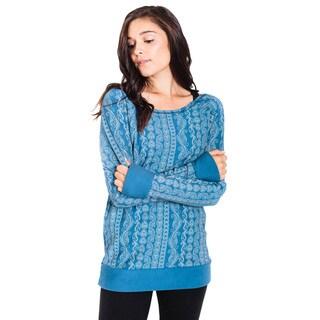 Women's Organic Cotton Paisley Long Sleeve Top (Nepal)