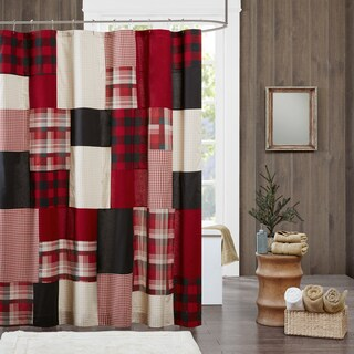 Woolrich Sunset Red Cotton Shower Curtain