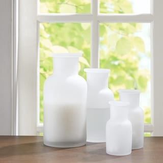 Madison Park Frosted Apothecary 4 Piece Glass Jar Set