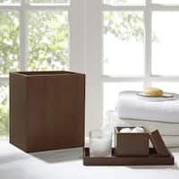 Madison Park Walnut Brown 3 Piece Bath Accessory Set