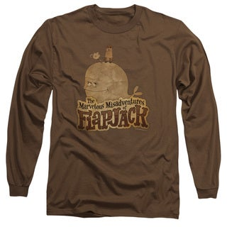 Flapjack/ Olde Time Friends Long Sleeve Adult T-Shirt 18/1 in Coffee