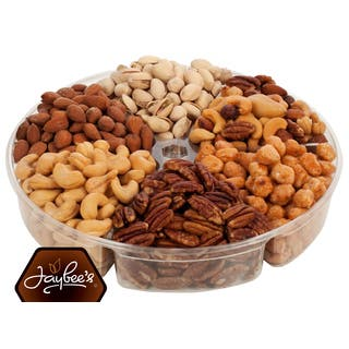 Jaybee's Gourmet Nut Gift Tray the Perfect Blend of Nuts|https://ak1.ostkcdn.com/images/products/12456343/P19269800.jpg?impolicy=medium