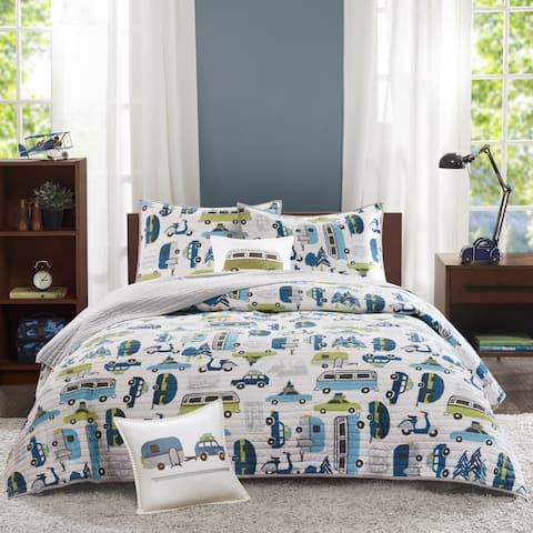 Taylor & Olive Bricky Multi Cotton 4-piece Coverlet