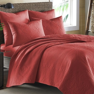 Tommy Bahama Nassau Spice Red Cotton Coverlet