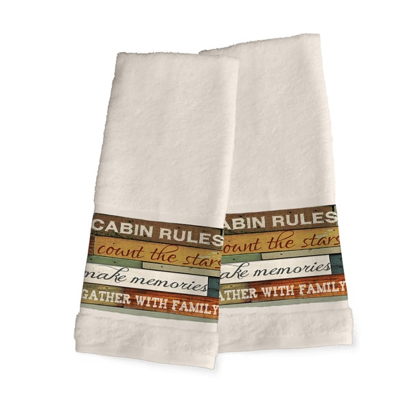 Laural Home Rules of the Cabin Hand Towel