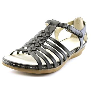 Kim Rogers Women's Almy Black Leather Sandals