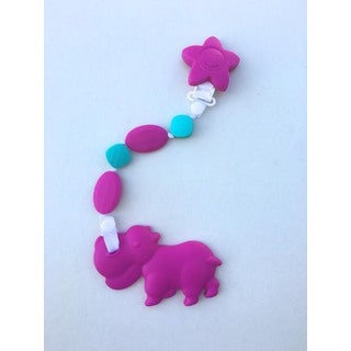 SillyMunk Hippo Silicone Teething Clip