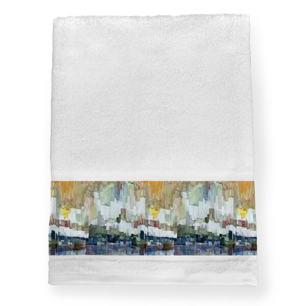 Laural Home Abstract Brush Strokes Bath Towel