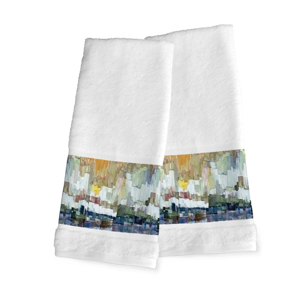 Laural Home Abstract Brush Strokes Hand Towel Set