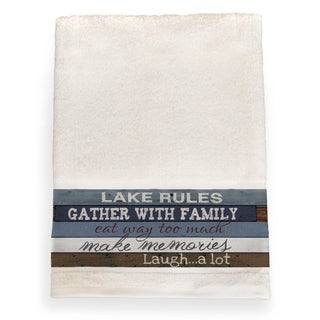 Laural Home Rules of the Lake Cotton Bath Towel