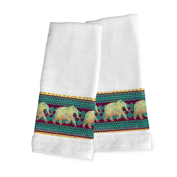 Shop Laural Home Moroccan Elephants Hand Towel