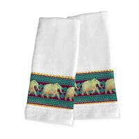 Laural Home Moroccan Elephants Hand Towel