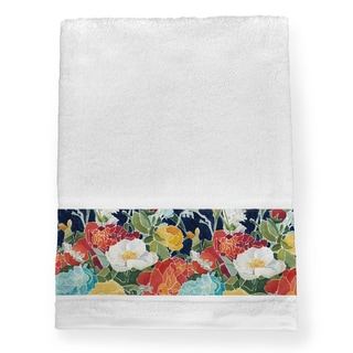 Laural Home Midnight Garden Multicolored Cotton Bath Towel