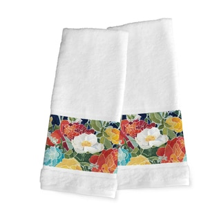 Laural Home Midnight Garden Cotton Hand Towel