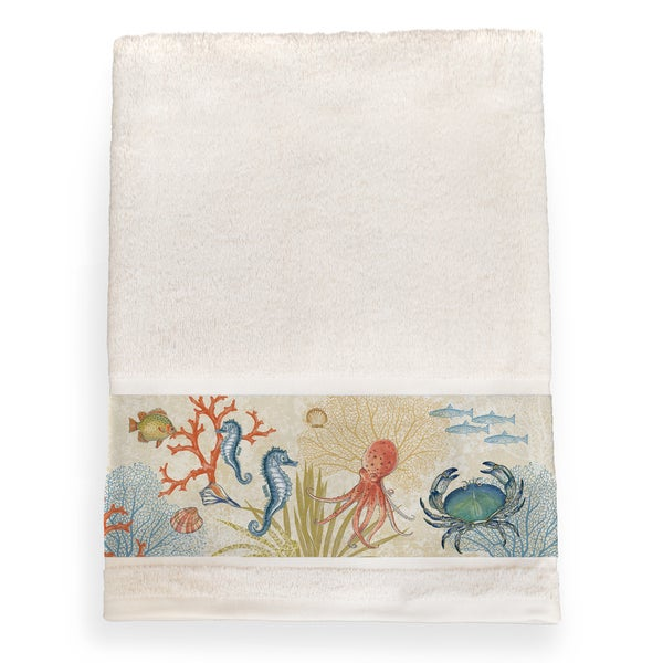 Laural Home Sea Creatures Bath Towel