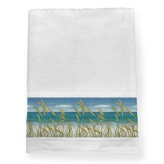 Laural Home Ocean Breeze Blue Cotton Bath Towel