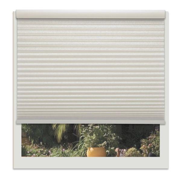 Linen Avenue Seashell 46- to 47-inch Wide Custom Cordless Light-fIltering Cellular Shade
