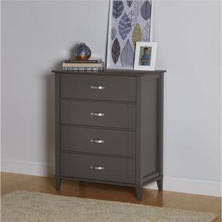 altra quinn 4 drawer dark grey two tone dresser