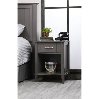 Altra Quinn Dark Grey - Two Tone Nightstand
