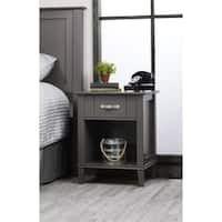 Carbon Loft Ampere Dark Grey Two-tone Nightstand